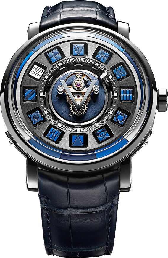Louis Vuitton Escale Spin Time Central Tourbillon Blue - Perpetuelle