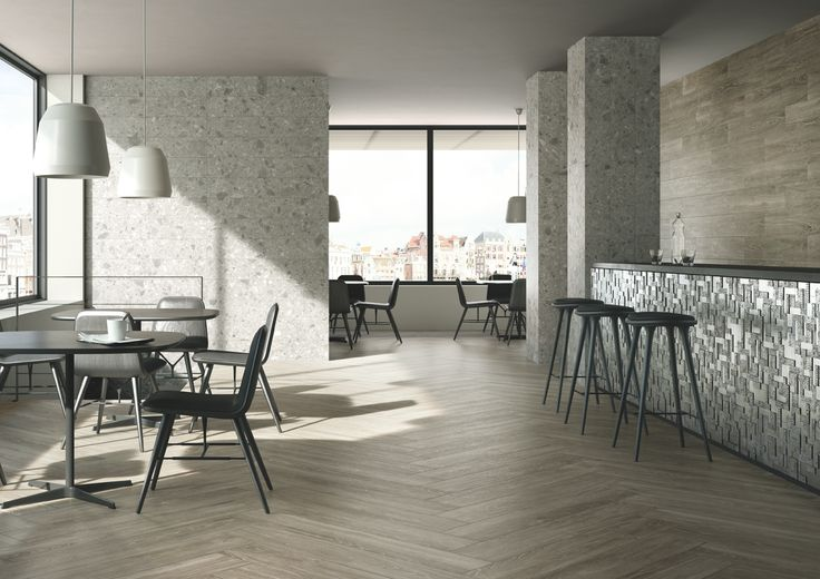 Edilgres Legno Ardennes. Edilgres Woodlab was created to investigate all the expressive potential of natural wood, selecting different types of wood and processing methods to turn them into high-performance and technically advanced porcelain stoneware products.  #pietra #rock #living #edilgres #style #stone #gres #tile #tiles #matt #interior #table #brown #restaurant #wood #restaurant #effettolegno #effetto #legno