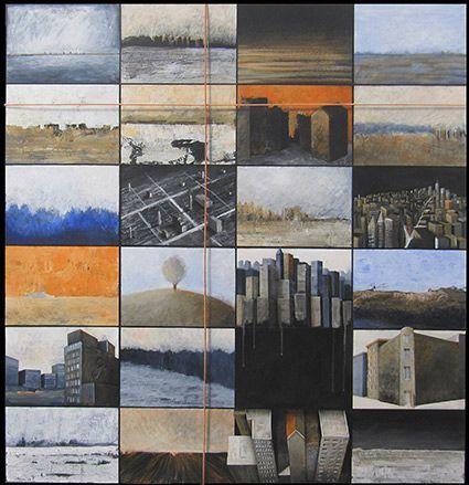 Landscape 120x120 cm sold