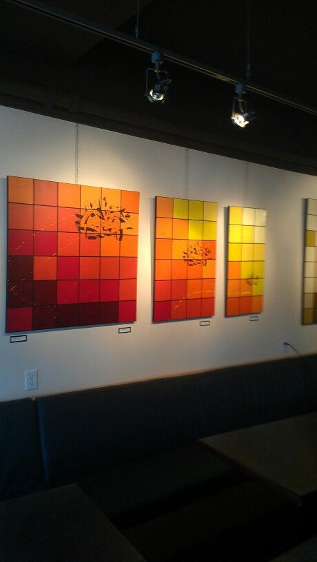 Cubist / Modern Art Hung at Mount Currie Coffee Co across from Pemberton GatrwayVillage Suites