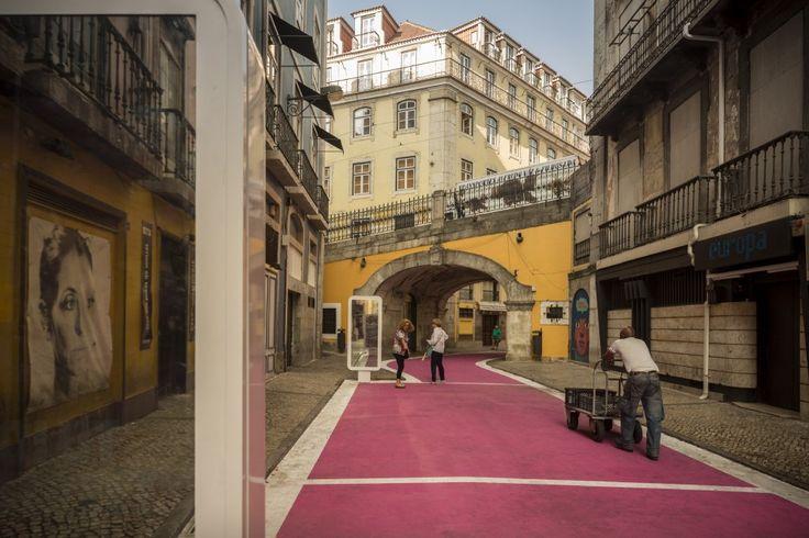 Pink Street in Lisbon by Jose Adrião Arquitectos