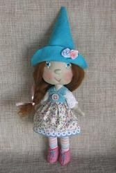 ELKA- Forest Elf Girl with turquoise hat