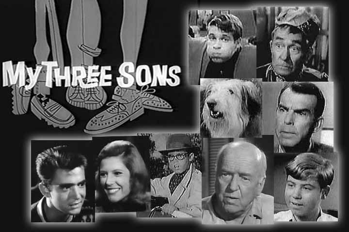 Fred MacMurray and the cast of My Three Sons