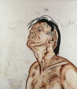 Tony Bevan by Tony Bevan oil and pigment on canvas, 1992