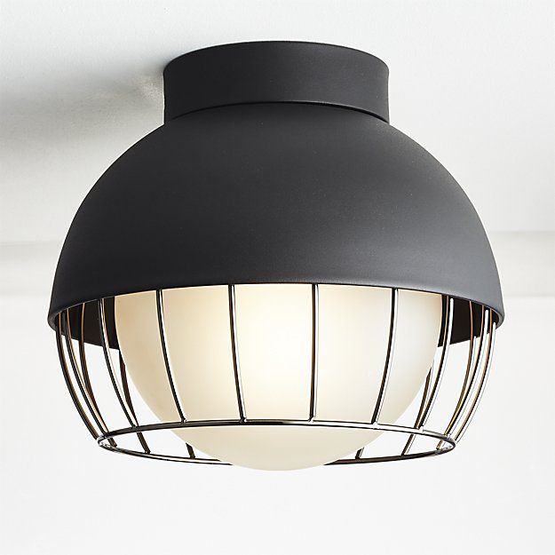 Cage Indoor-Outdoor Flush Mount Lamp | CB2