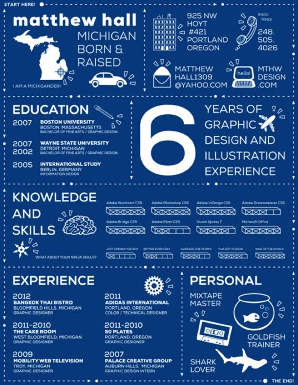 well done infographic resume