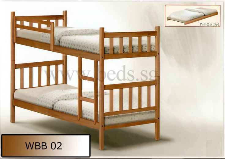 Solid Wood Double Deck Bed WBB02 | Furniture & Appliances | FortyTwo