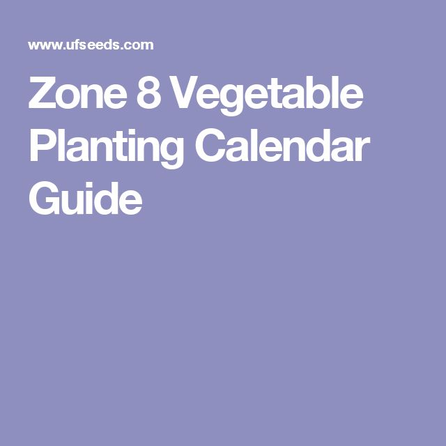 vegetable planting guide zone 8