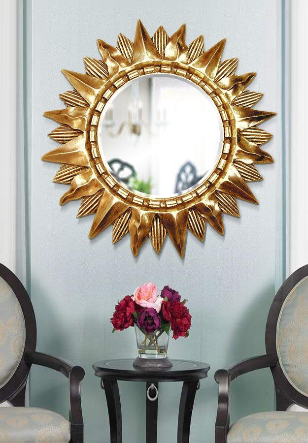 Зеркало Солнце в интерьере смотреть фото