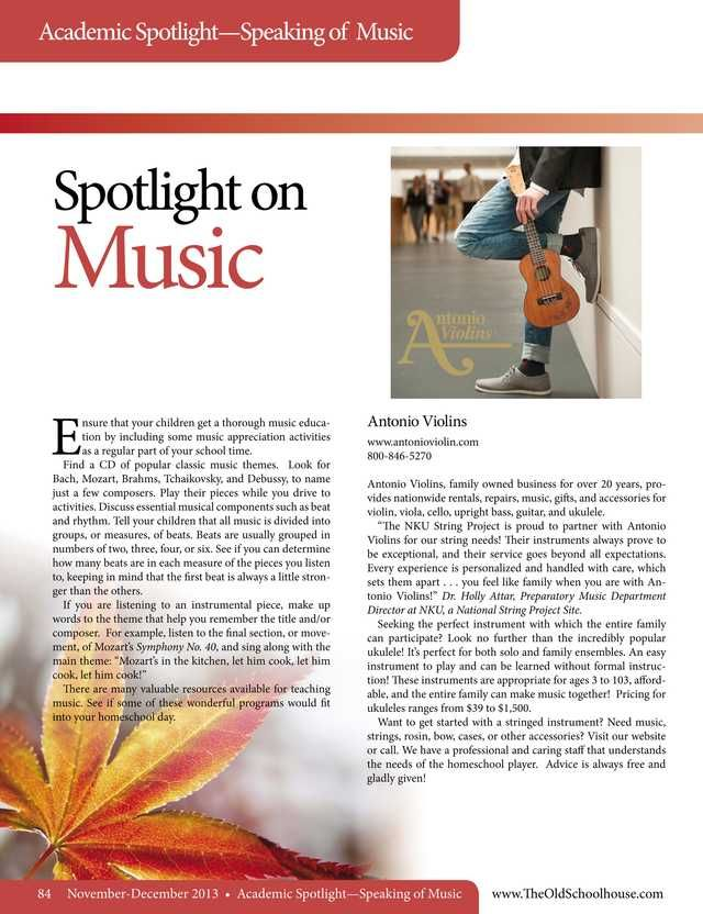 29 best music instruction and theory images on pinterest the old schoolhouse magazine november 2013 page 84 85 fandeluxe Image collections