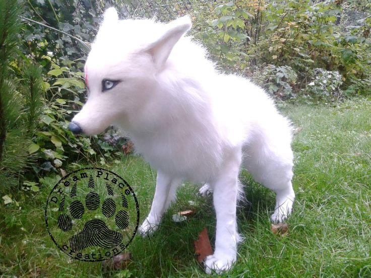 Fantasy arctic wolf. #poseable #creature #fantasy #ooak