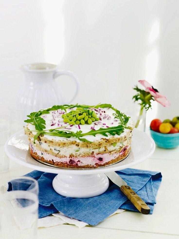 Frischkäsekuchen mit Gemüse | http://eatsmarter.de/rezepte/frischkaesekuchen-mit-gemuese