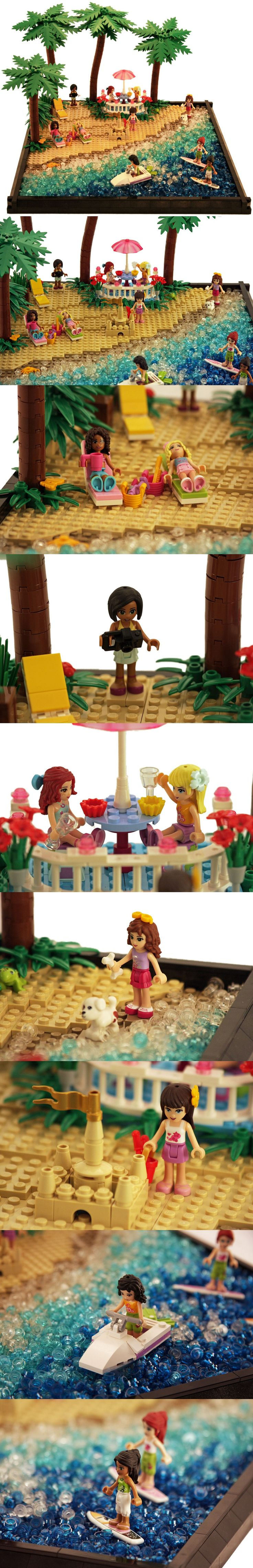 Lego friends beach! Such a good Idea for the water!