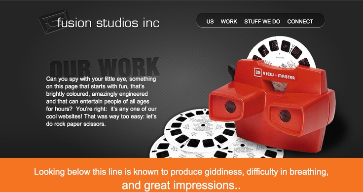 Work page Fusion Studios