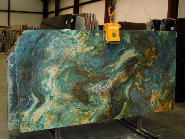 louis blue granite....looks like a painting!!!