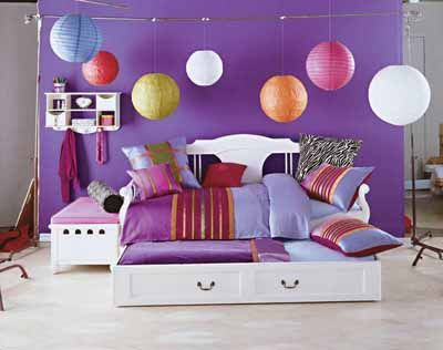 girls bedroom ideas purple: Teen Bedrooms, Decor Ideas, Paper Lanterns, Color, Girls Bedrooms, Bedrooms Ideas, Girls Rooms, Kids Rooms, Bedroom Ideas
