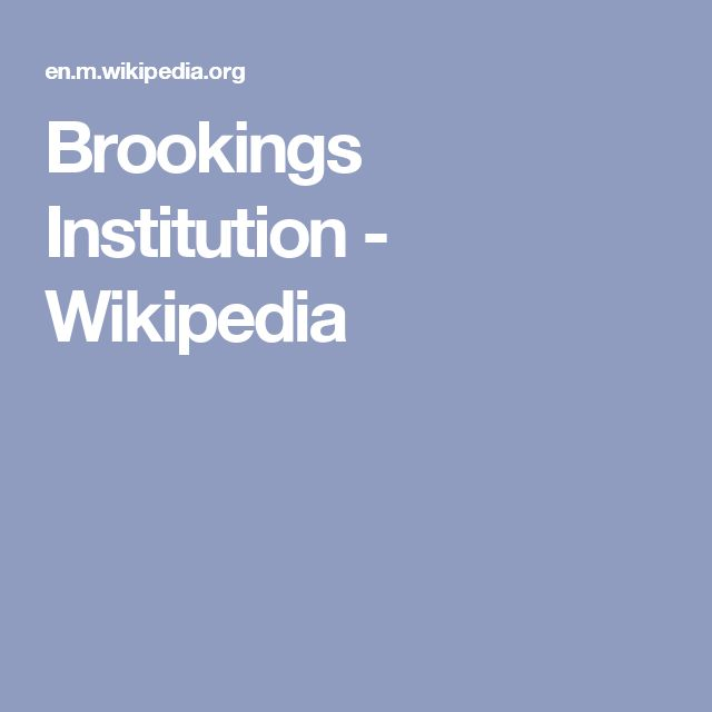 Brookings Institution - Wikipedia