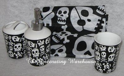 Skull Bathroom Set Bathroom Ideas Pinterest Decor