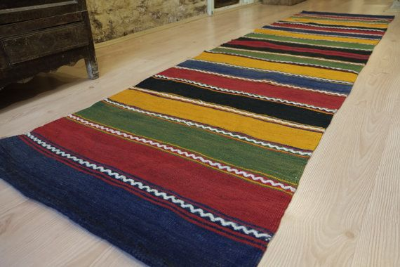 Handwoven Kilim runnervintage kilim by kilimci on Etsy