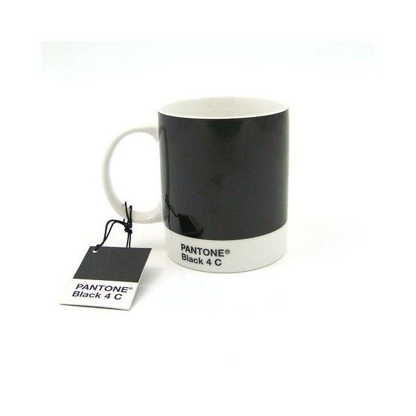 MOCA Store Online - Pantone Mug Black 4 C ($15) found on Polyvore
