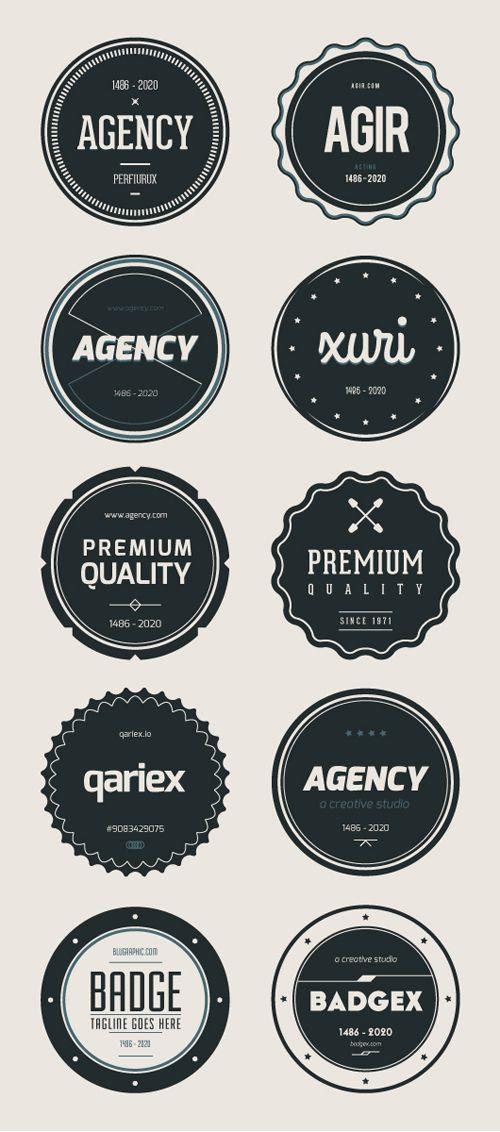 PSD Badges (Vintage, Retro) Style | Design | Graphic Design Junction