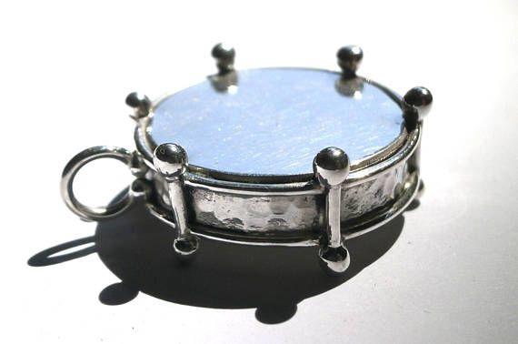 Drum Pendant Bass Drum Pendant Snare Drum Pendant Silver