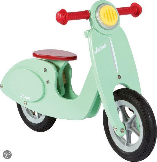 Stoere houten scooter!