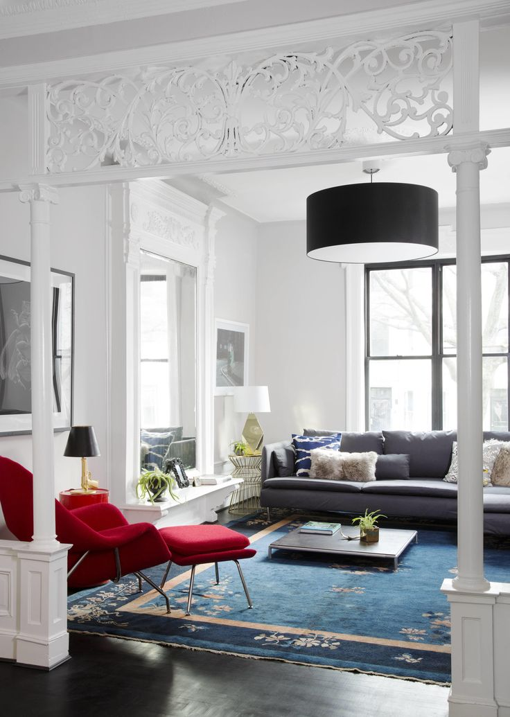 Apartment Decor, Red Accent Chair Living Room