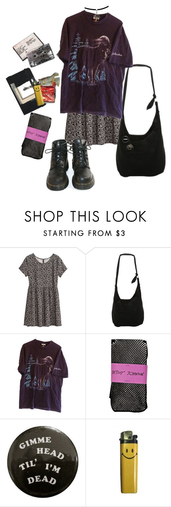 """""""Ik im weird but can we be friends?"""" by jennyryanfecitt ❤ liked on Polyvore featuring Moleskine, H&M, Disney, Dr. Martens, Betsey Johnson, women's clothing, women, female, woman and misses"""