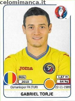 UEFA EURO 2016™ Official Sticker Album: Fronte Figurina n. 63 Gabriel Torje