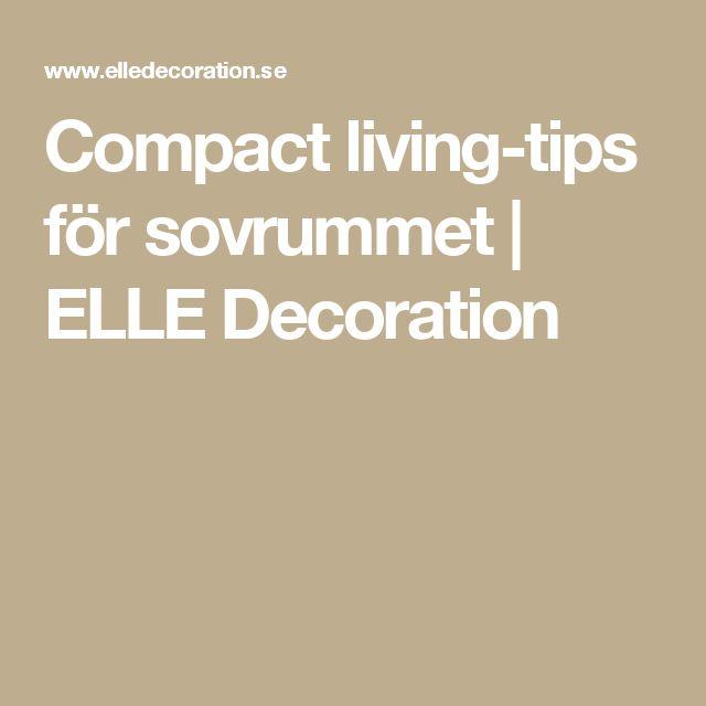 Compact living-tips för sovrummet   ELLE Decoration