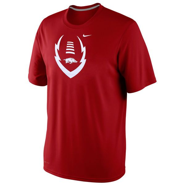 Arkansas Razorbacks Football Icon Legend Dri-Fit Performance T-Shirt - Cardinal - $22.99