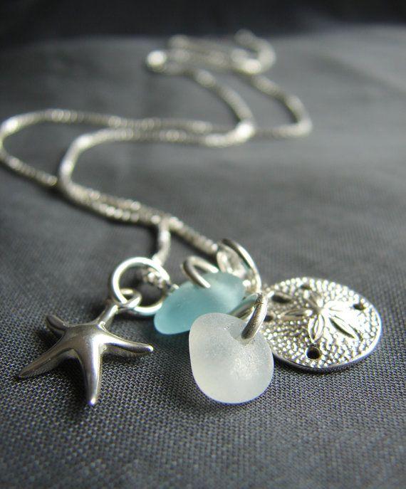Sea Glass Necklace /  seaglass necklace  /  beach glass