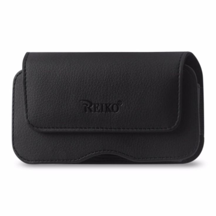 Reiko Samsung Galaxy Note 4 Horizontal Leather Pouch Slim Black With Belt Hoops And Magnetic Inner Size: 6.19X3.24X0.48Inch