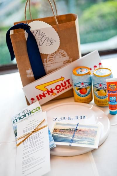 make some fun welcome goodie bags for out of town guest that fit the city they've come to: San Antonio themed including coupons, lists of attractions/restaurants, snacks & toiletries