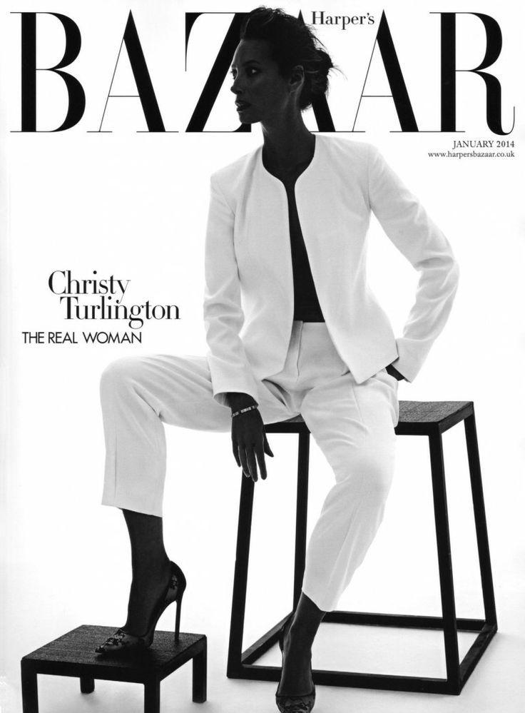 Harpers Bazaar UK January 2014 | Christy Turlington by Alexi Lubomirski