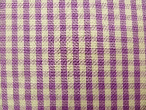Lilac and White Gingham Checked Cotton