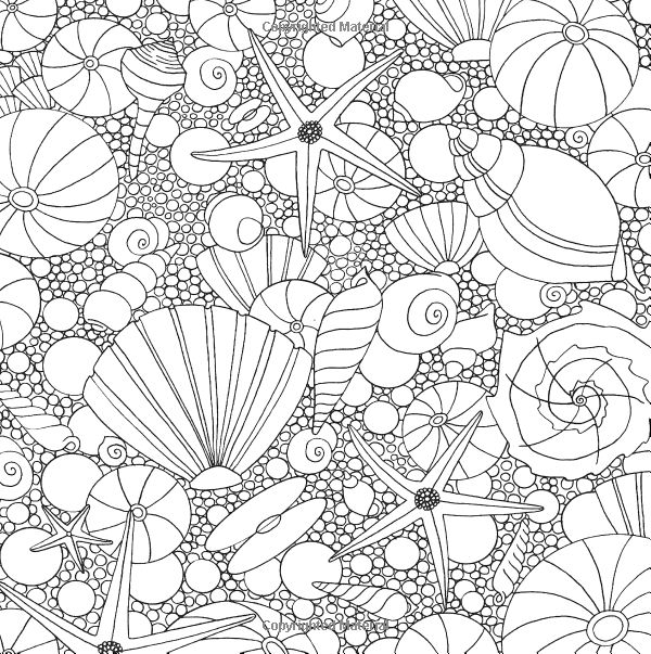seashells ocean underwater sea coloring pages colouring adult detailed advanced - Seashell Coloring Pages Printable
