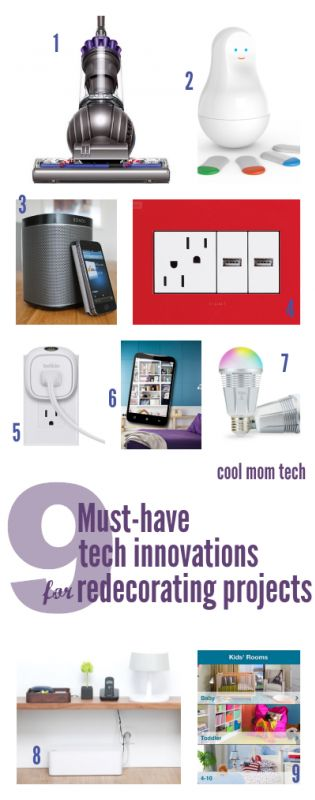 9 wonderful tech must-haves for redecorating or renovation projects.Amazing Appliances, Tops Tech, Amazing Tech, Tech Innovation, Redecorating Projects, Tech Must Hav, Mom Tech, Wonder Tech, Renovation Projects