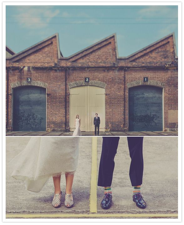 Australian wedding | i love this industrial shot