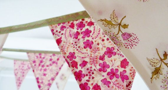 Liberty of London bunting banner  pretty blooms by SewSweetViolet, £24.00