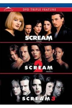 scream movie collection:  the slasher movies of my generation.  Saw these in the theater.  The $1 one, lol