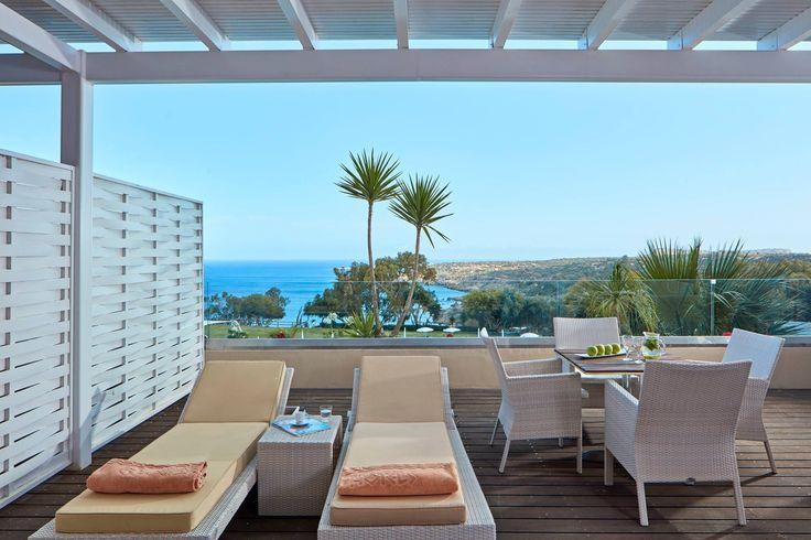 Terrace Suite Sea View private balcony.