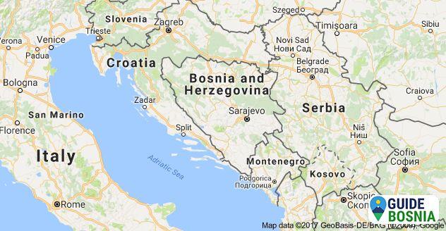 Enchanting Sightseeing In Southeast Europe Croatia Map Croatia Bosnia