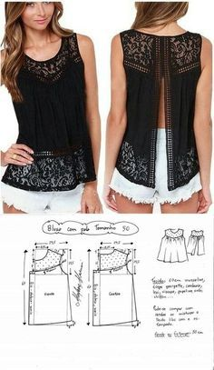 Lace patterned top...