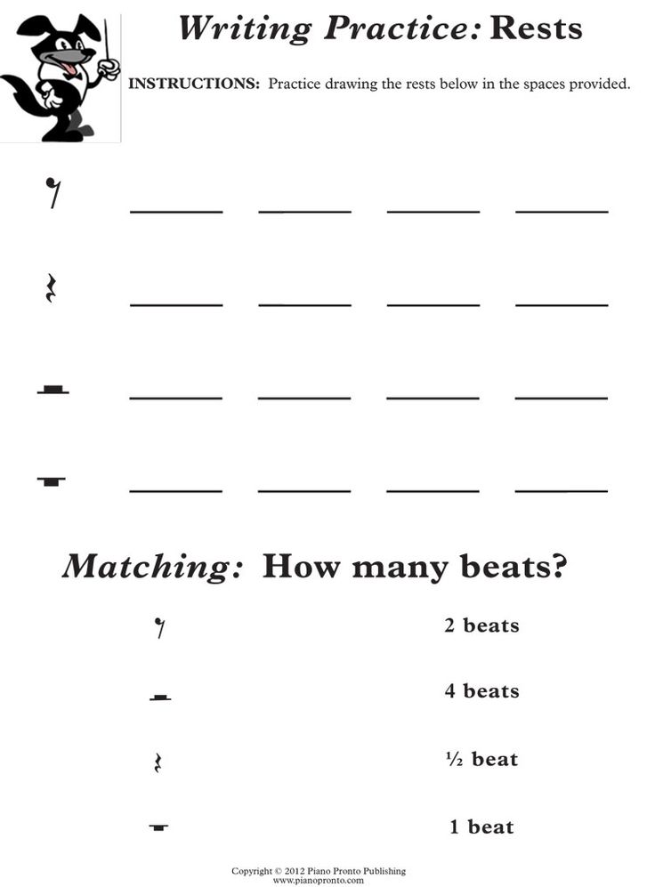 Easy Music Worksheets Free Worksheets Library Download