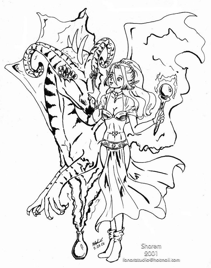 Anime Elf Coloring Pages Printablecolouringpages
