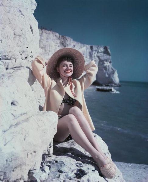 Audrey Hepburn baciata dal sole
