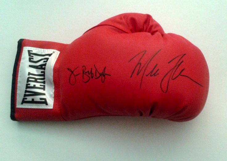 James Buster Douglas & Mike Tyson Autographed Boxing Glove