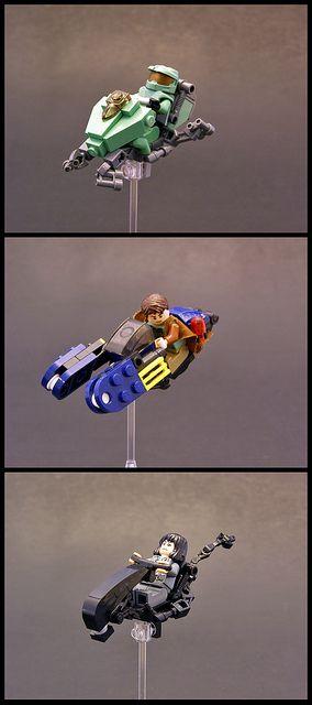 Movie/Video Game speeders by Legohaulic, via Flickr